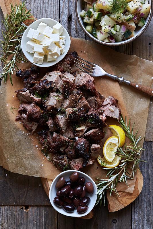 Grilled Greek-Style Leg of Lamb