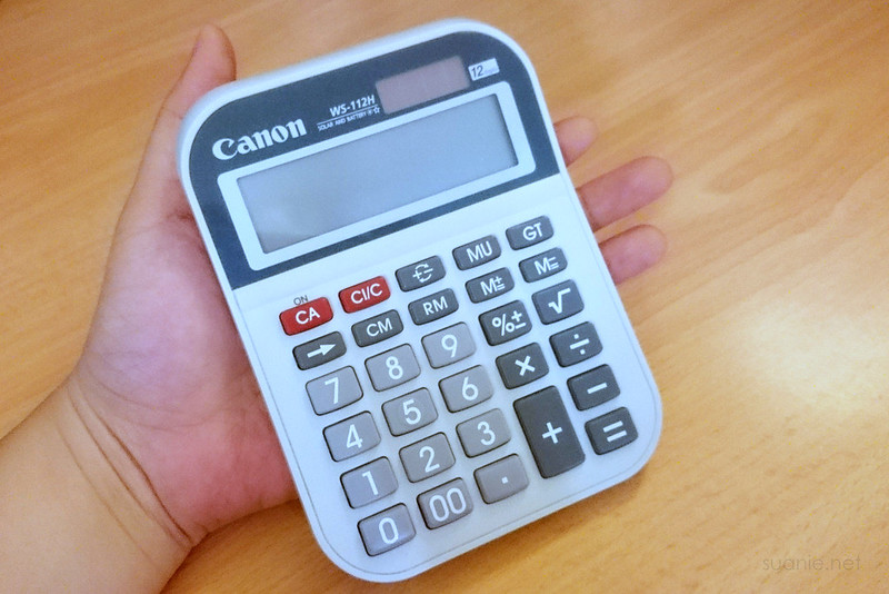 Calculator in my hand