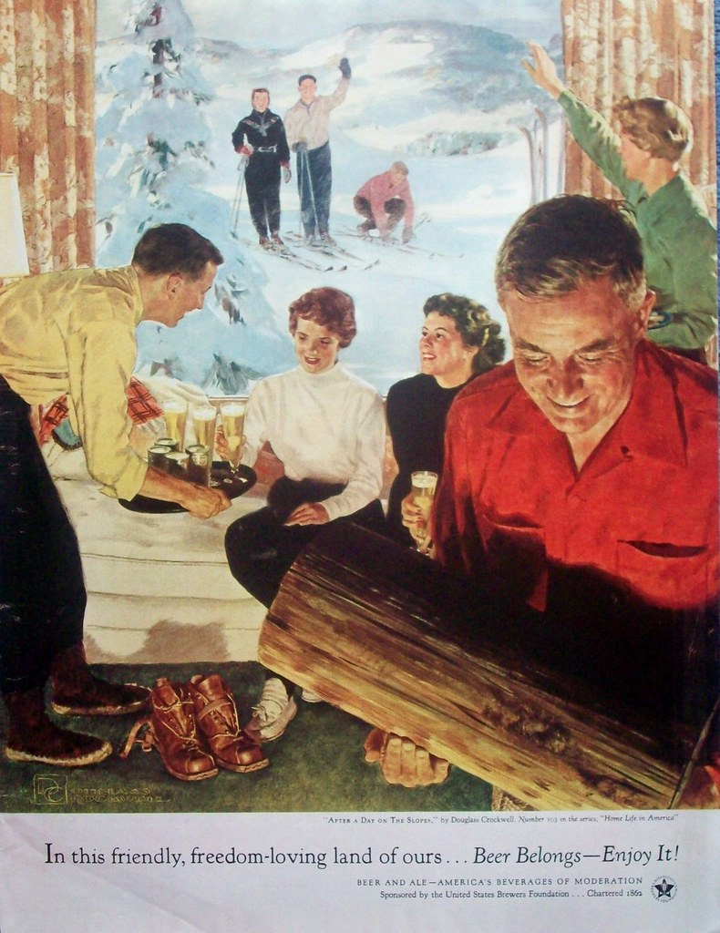 103. After a Day on the Slopes by Douglass Crockwell, 1955-2
