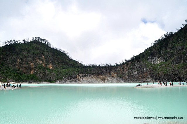 Greenish white Crater Lake of Kawah Putih