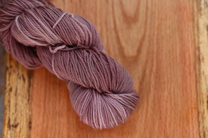 elderberry dyed yarn
