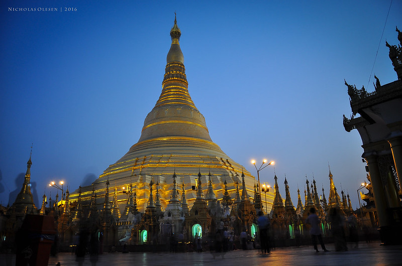 Blue Hour at Shwedagon Pagoda