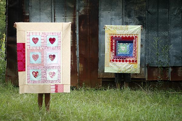 NICU heart quilts