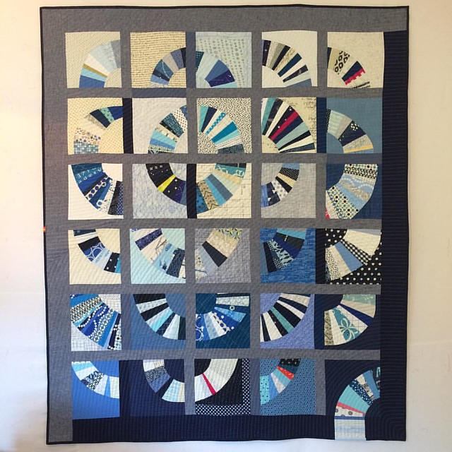Finished Do. Good Stitches quilt. Maybe I say this about all my quilts, but I think this one is my favorite. #dogoodstitches #dgslovecircle