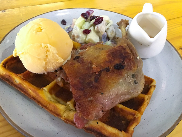 fried-duck-waffles-ice-cream