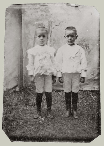 Tintype Two Young Boys
