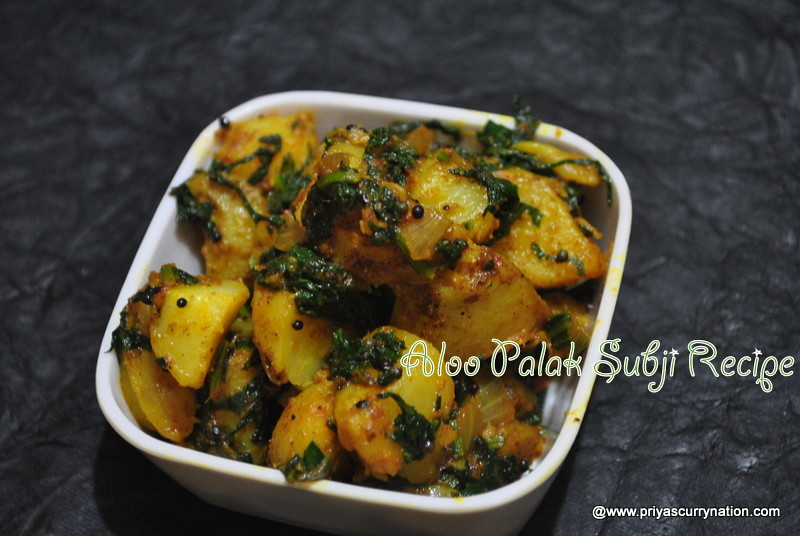 Dry-Aloo-palak-subzi-recipe