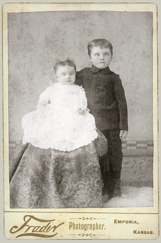 Cabinet Card two children