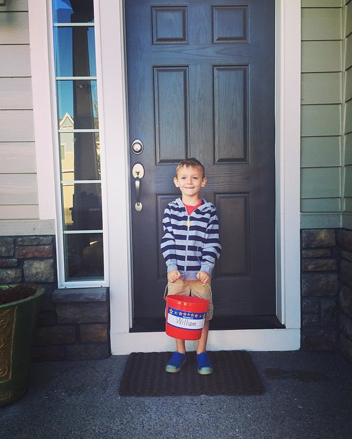 Will's first day at Red Bucket Christian Preschool