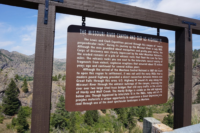 Missouri River Canyon Sign