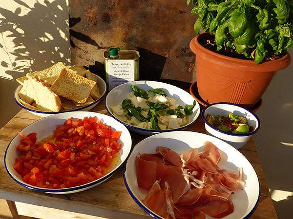 déjeuner italien sur le pouce