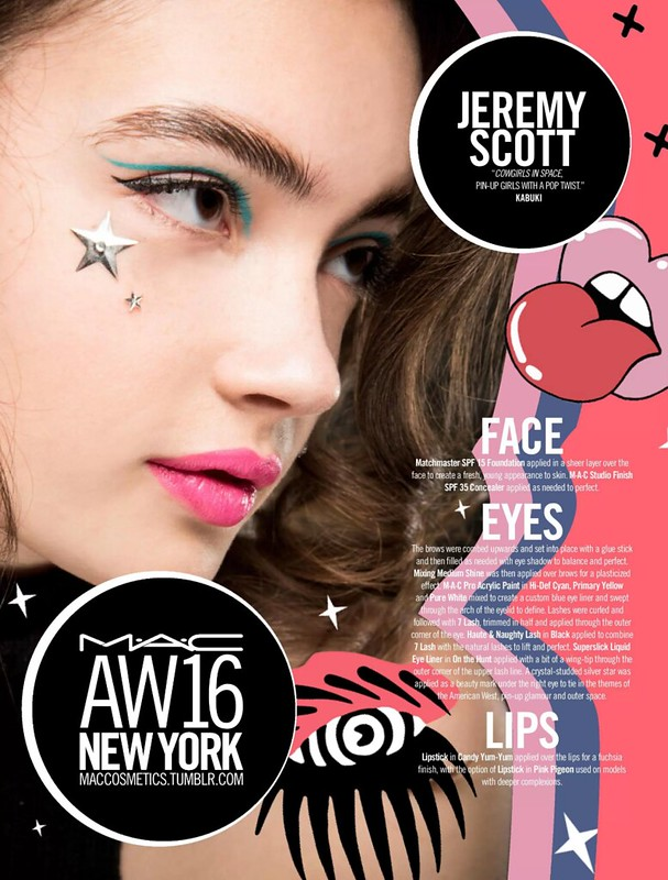 Jeremy Scott - makeup instructions VIA MAC