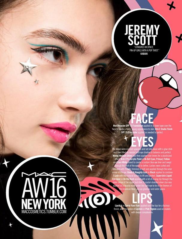 Jeremy Scott - makeup instructions VIA MAC