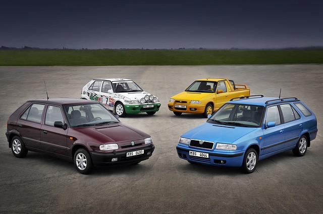 Все варианты кузова Skoda Felicia. 1994 - 2001 годы