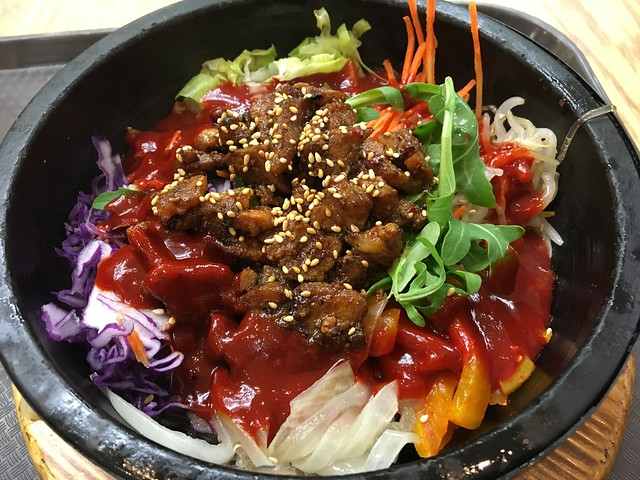 Spicy pork belly bibim stone bowl - BibimBar