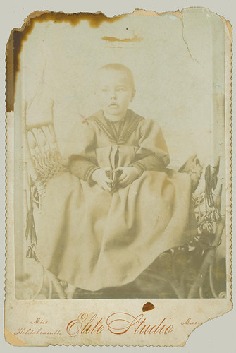 Cabinet Card small boy in robe