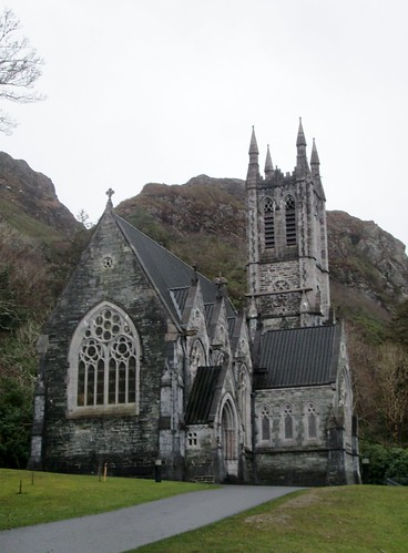 Kylemore Abbey Gothic Cathedral Exterior 2