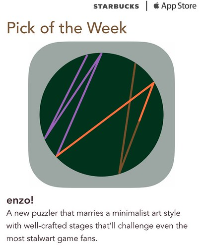 Starbucks iTunes Pick of the Week - enzo!