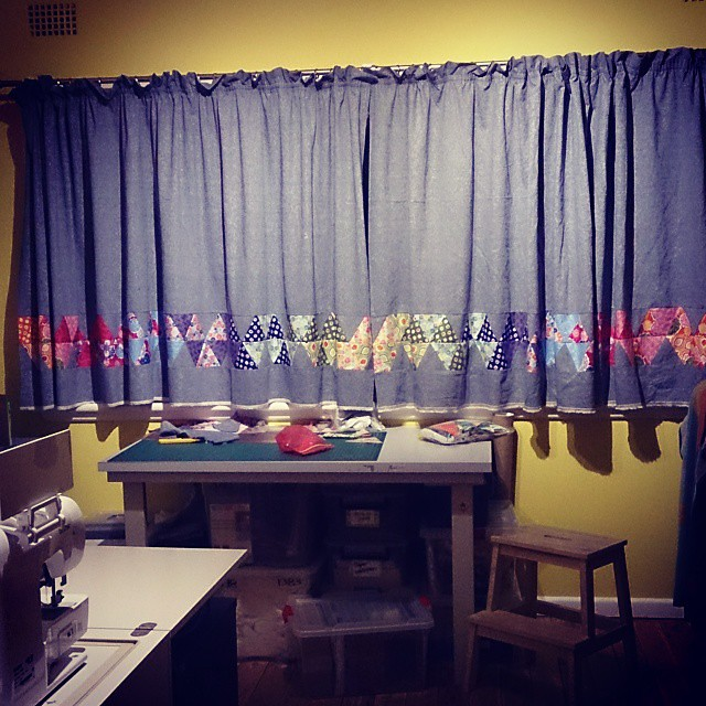 Sewing room curtains all done!
