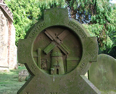 windmill headstone for John Whittowe, 1891