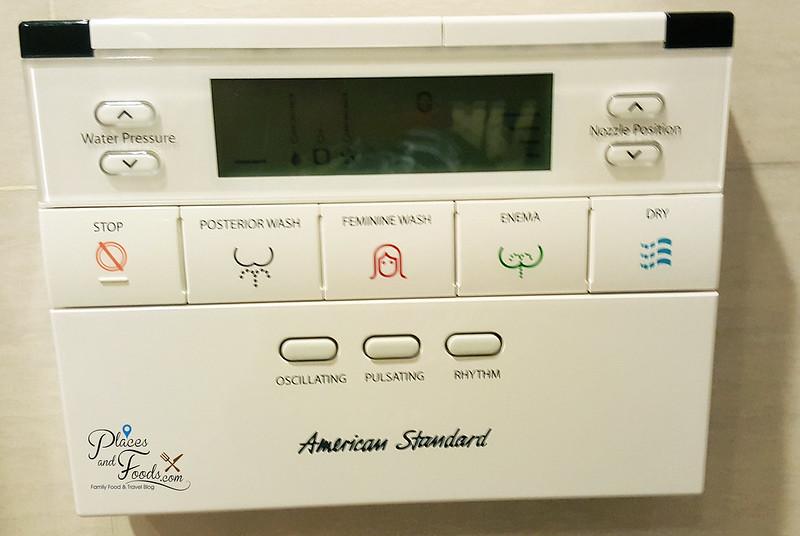 mandarin hotel bangkok toilet bidet system buttons