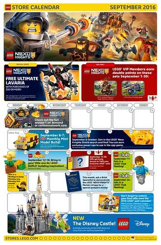 Store Calendar US Septembre 2016