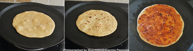 How to make Chapati Pizza - Step5