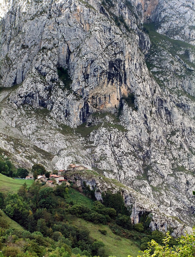 View from the village of Bulnes in the Picos de Europa of Northern Spain