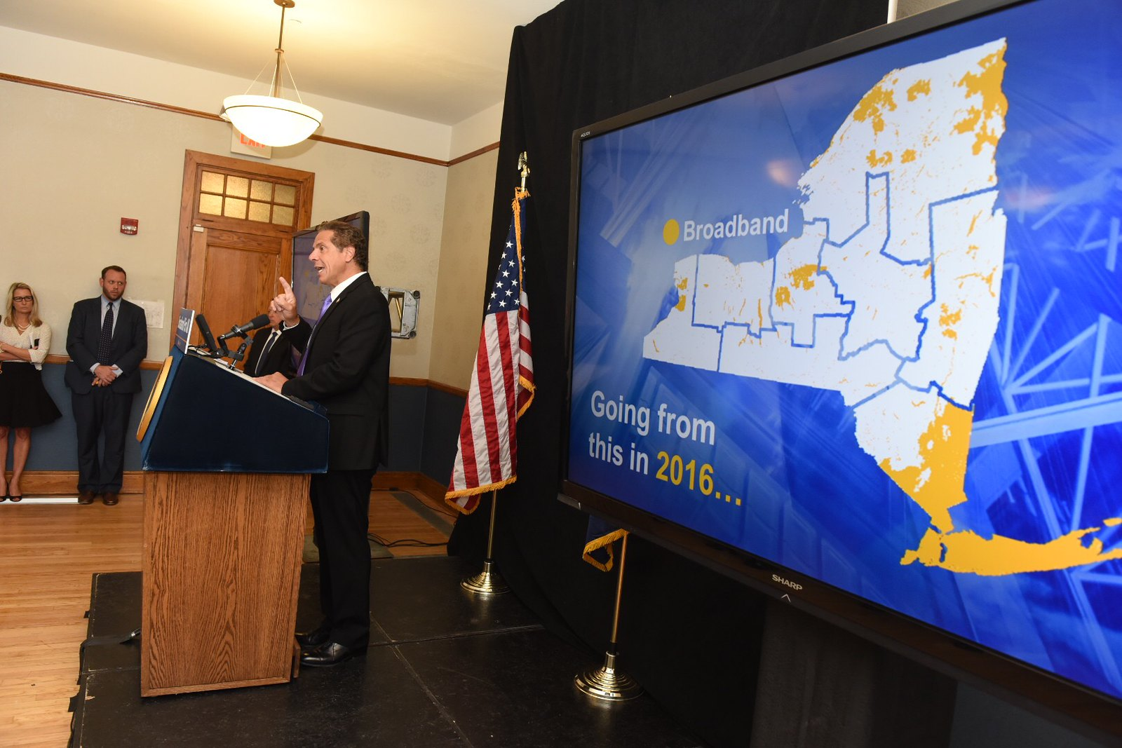 Governor Cuomo Announces Broadband Improvements in Hudson