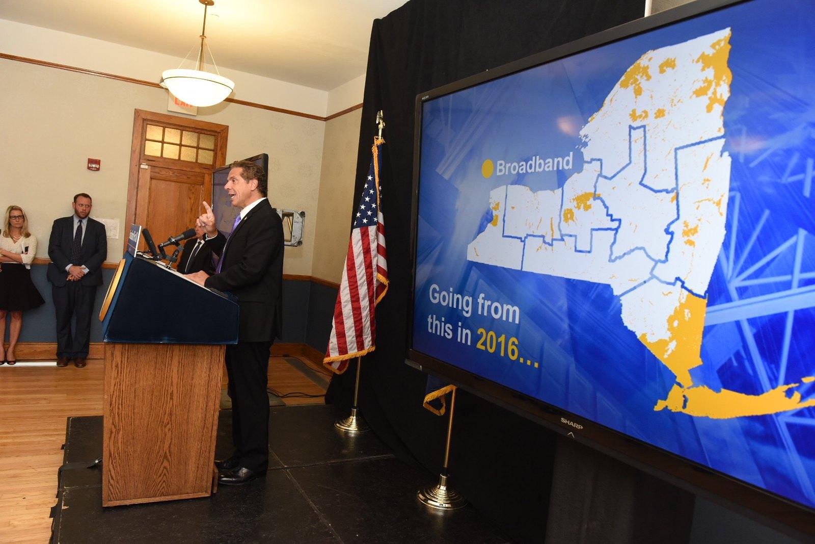 Governor Cuomo Announces Broadband Improvements in Hudson