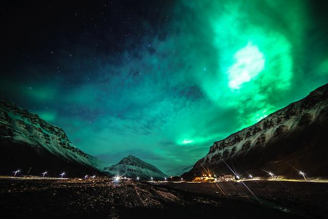 Nordlichter über Spitzbergen