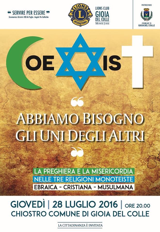 coesistere incontro tra religioni