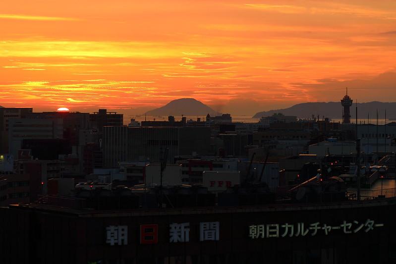 JR博多シティ屋上から