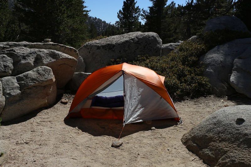 My new Big Agnes Copper Spur UL1 tent in Little Round Valley