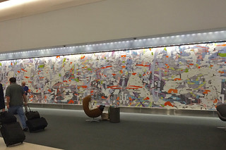 SFO Terminal 2 - Amy Ellingson Mosaic mural