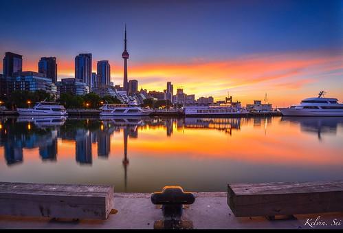 Toronto summer sunrise