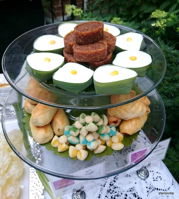 Sweet Tapioca with Coconut Cream , Thai Flower-Shaped Cookies, Pineapple Cookies, Thai Spicy Pork Cookies