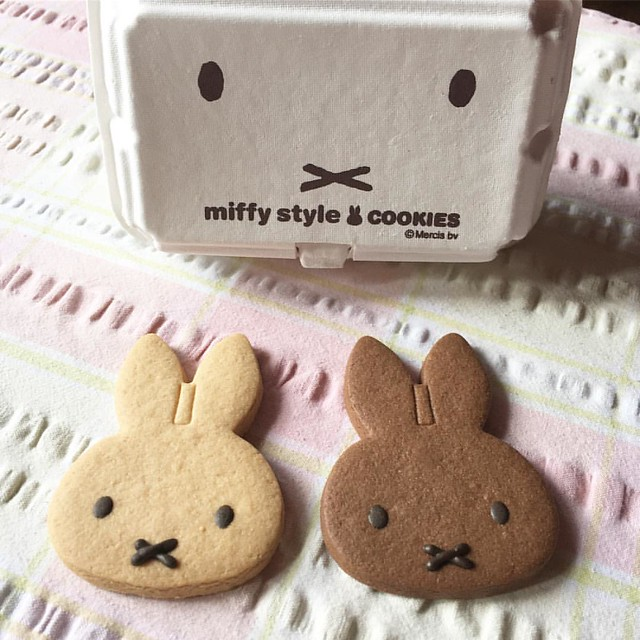 Miffy cookies! I bought these in Japan for @paulinahonig