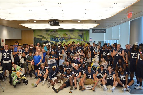 PSU Football Team Visit 2016
