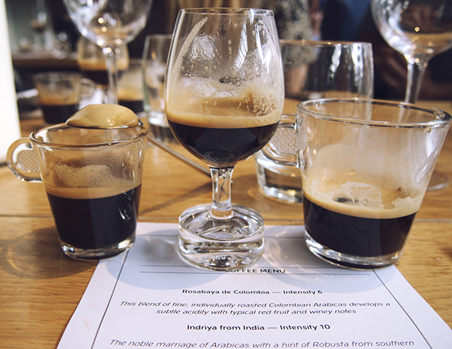 Nespresso Grand Cru coffee tasting