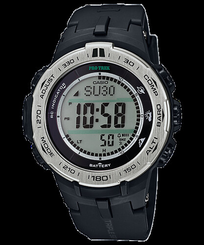 Reloj Casio Pro Solar Trek 3 Sensores Hombre PRW3100-1