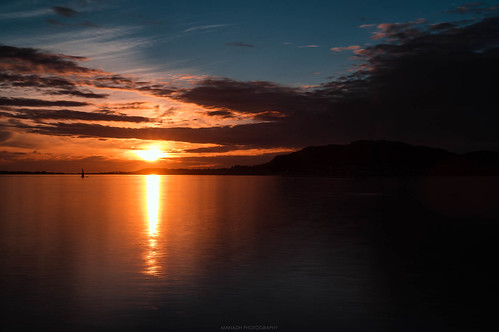 Sunset from Ãlesund