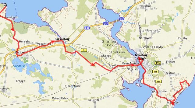 Ostseeradweg Karte.Dk Ostseeradweg Dänemark østersøruten Auf Naturlagerplätzen
