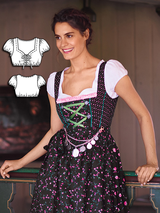 Oktoberfest 8 new women 39 s dirndl sewing patterns sewing for Dirndl fa r mollige