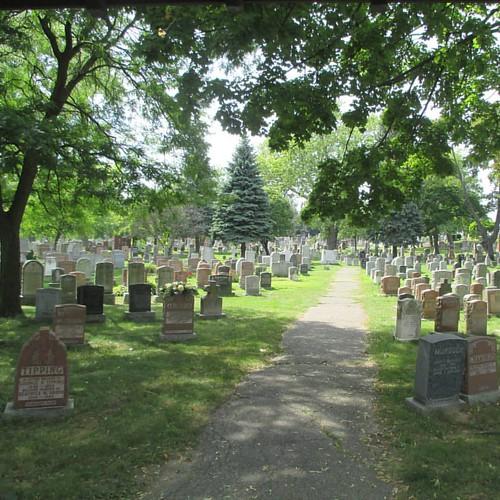 The path #toronto #kingstonroad #upperbeaches #cemetery #stjohnsnorwaycemetery