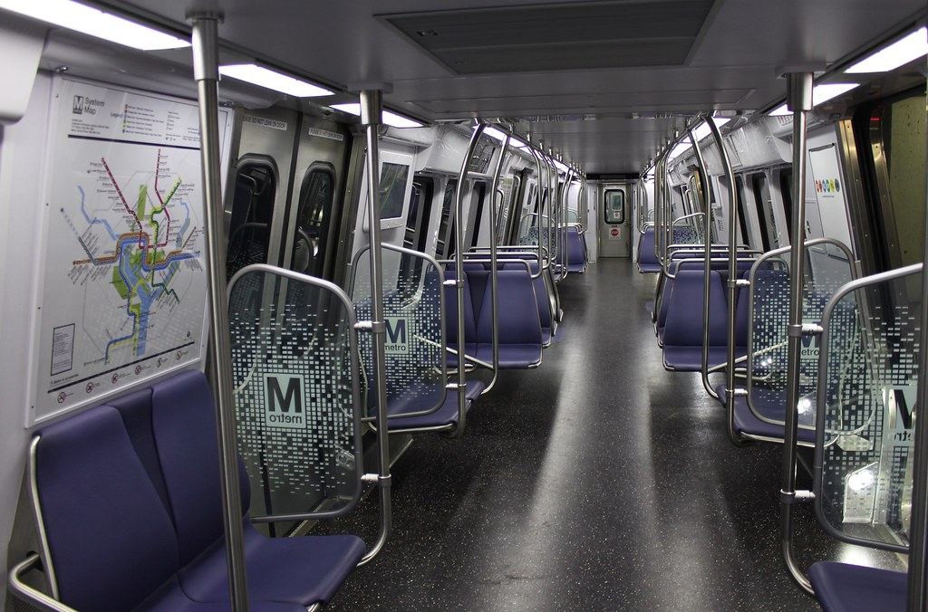 WMATA 7000 series interior