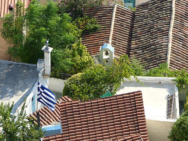 au-dessus de l'église d'Anafiotika