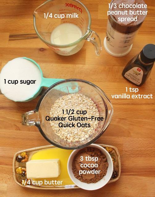 Quaker Gluten-Free Oats, Oatmeal & My Peanut Butter Chocolate Icebox Cookies