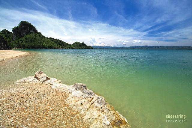 the emerald waters off Borawan