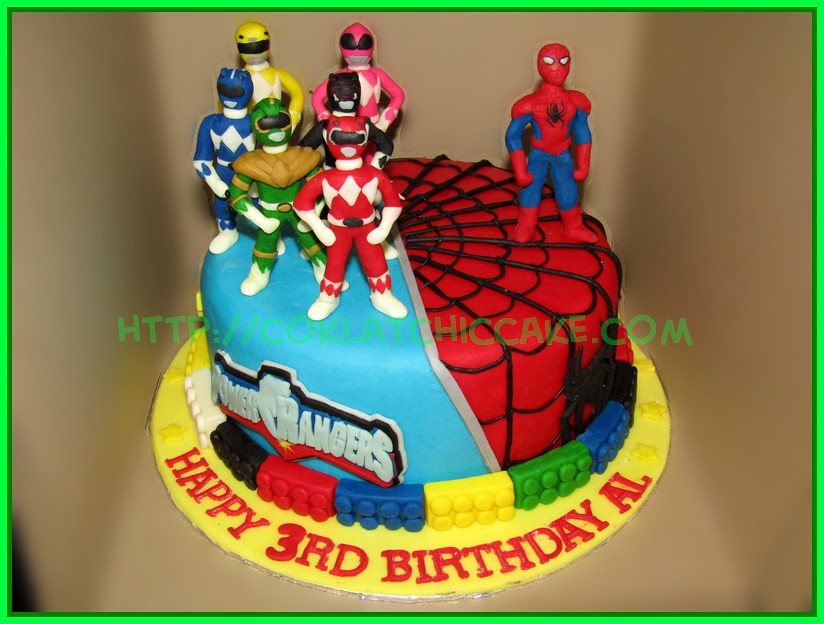 Cake Spiderman Power rangers